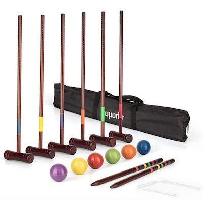 ROPODA Deluxe Croquet Set (6-Player)