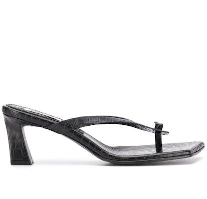 Square-Toe Croc Sandals