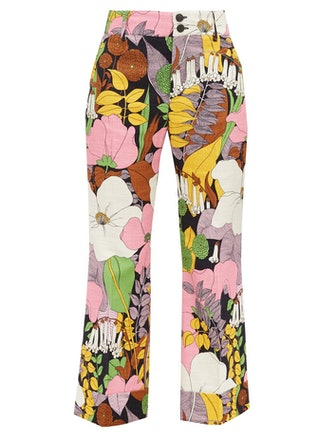 Hendrix Floral-Print Cotton-Blend Trousers