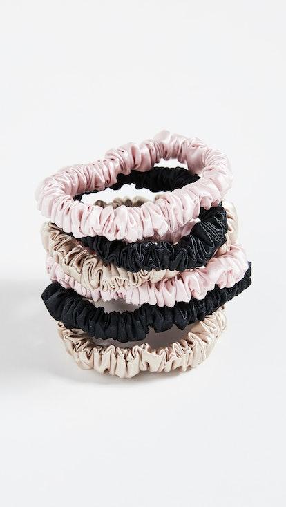 Silk Scrunchies - 6 Pack