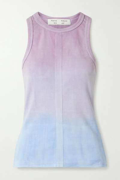 Ribbed Tie-Dyed Cotton Tank