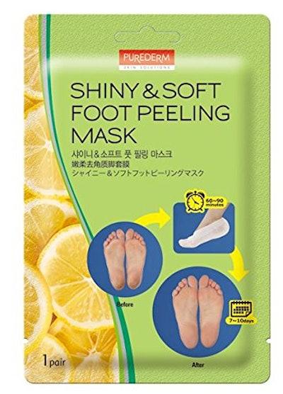 Purederm Shiny & Soft Foot Peeling Mask (3-Pack)