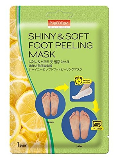 Purederm Shiny & Soft Foot Peeling Mask (3-Pack)