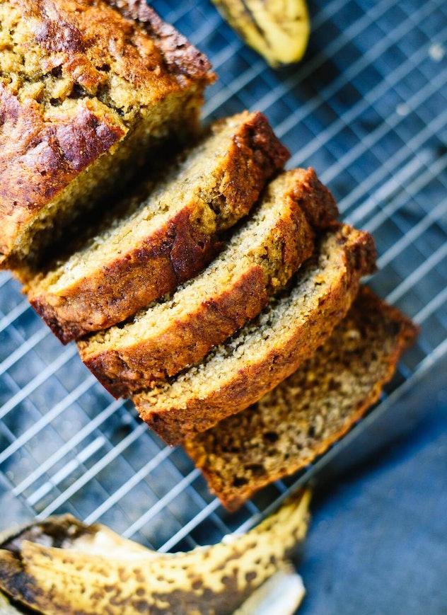 This banana bread recipe uses no refined sugar.