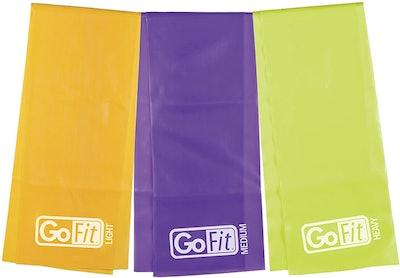 GoFit Flat Resistance Band Kit (Set of 3)