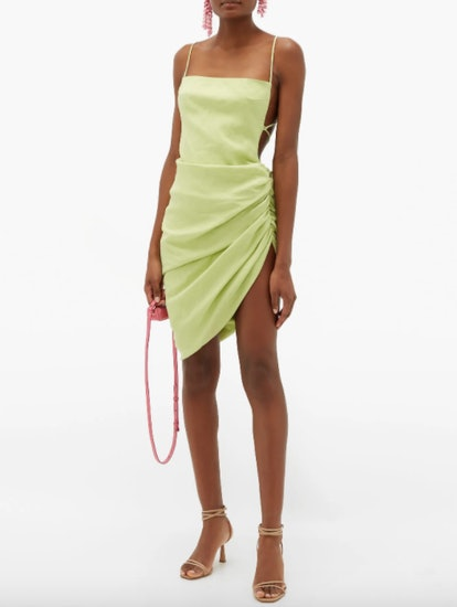 Jacquemus Saudade Gathered Side Mini Dress