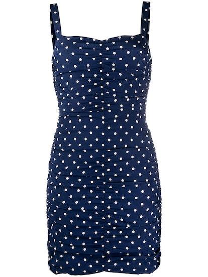 Polka Dot Print Mini Dress