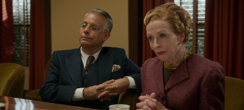 Ace studio employees Ellen Kincaid and Dick Samuels in Netflix's Hollywood.