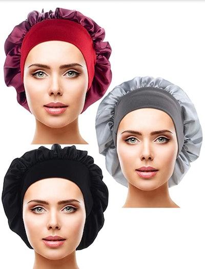 Blulu Satin Hair Cap (3-Pack)