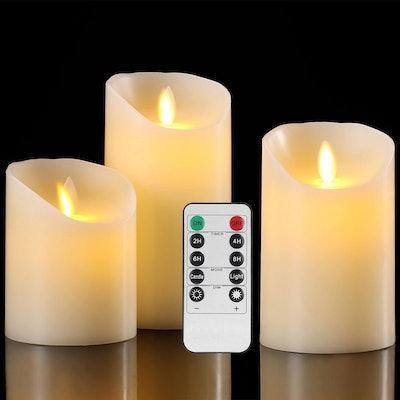 Aku Tonpa Flameless Candles (3-Piece Set)