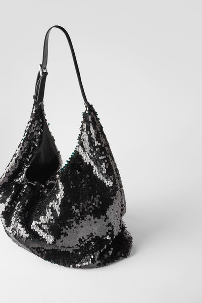 Zara Sequin Bucket Bag