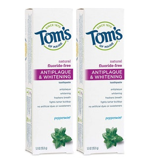 Tom's of Maine Fluoride-Free Antiplaque & Whitening Toothpaste, Peppermint