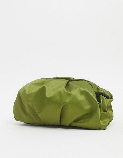 ASOS Designer Oversized Ruched Clutch Bag