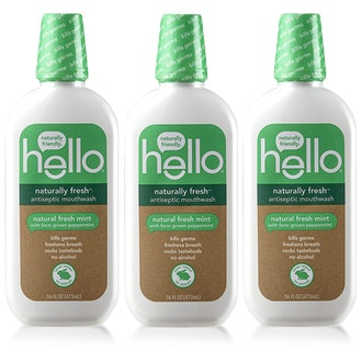 Hello Oral Care Naturally Fresh Antiseptic Mouthwash, Free Fresh Mint