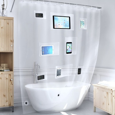 Better Than Bubbles Pocket Shower Curtain Liner