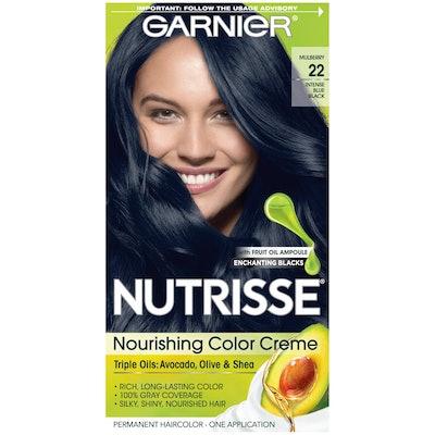 Garnier Nutrisse Nourishing Color Creme, 22 - Intense Blue Black