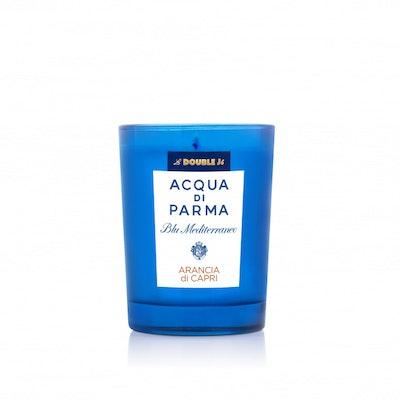 La DoubleJ Blu Mediterraneo Arancia di Capri Candle