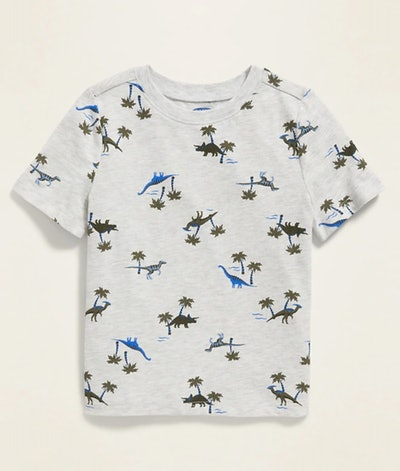 Printed Crew-Neck Tee for Toddler in Dinosaur Island