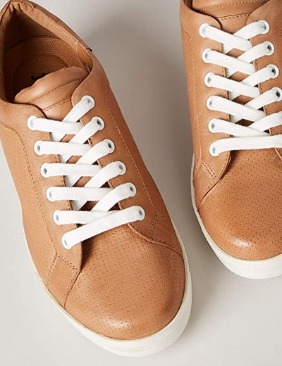 find. Women's Simple Leather Low-Top Sneakers