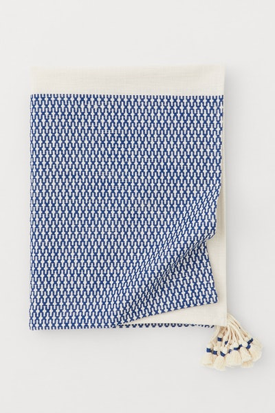 Cotton Tablecloth with Tassels