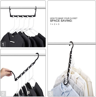 House Day Space Saving Clothes Hangers (10-Pack)