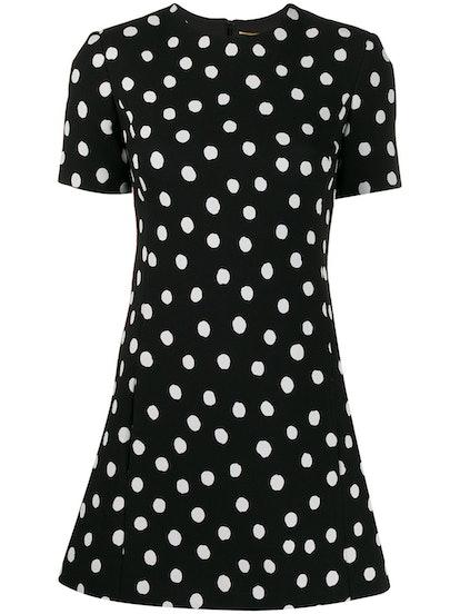 Polka-Dot Mini Dress