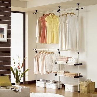 Double 2Tier Hanger & Shelf