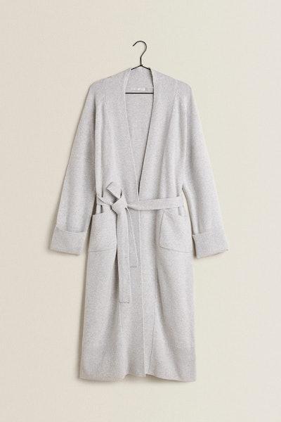 Zara Long Knit Robe