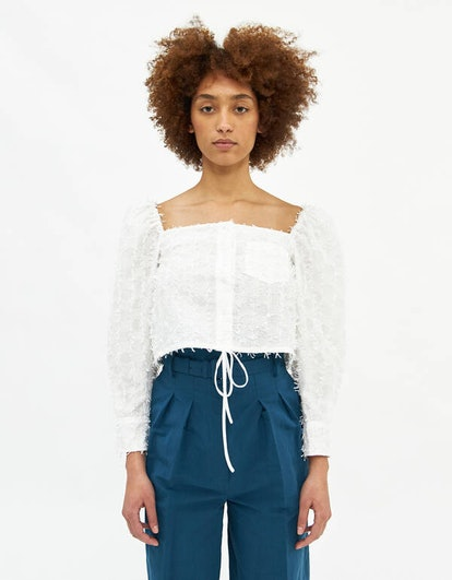 Puff Sleeved Cropped Top