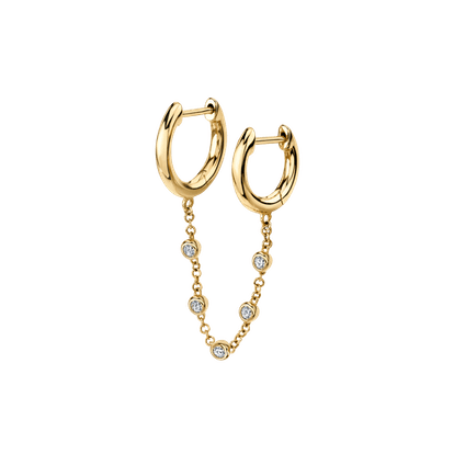 Diamond Chain Connected Slim Hoops