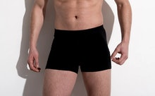 A black pair of HercLéon Fjord underwear.