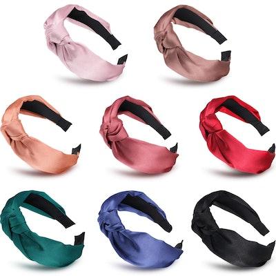 Satin Knot Headbands, 8 pcs