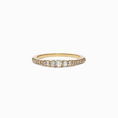 Pave Classica 14K Yellow Gold Diamond Band Ring, 0.31 TCW