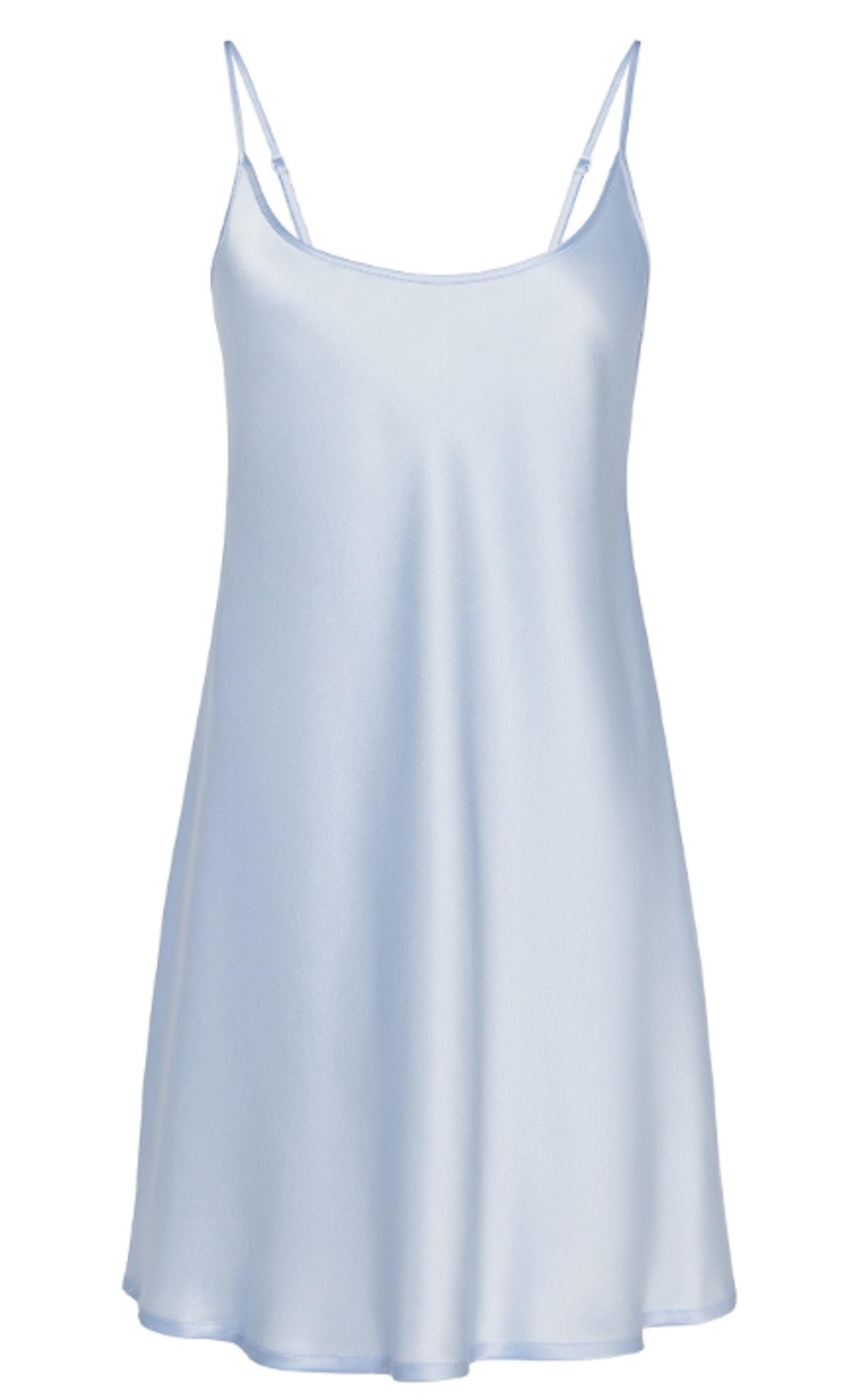 Azure Silk Short Slip