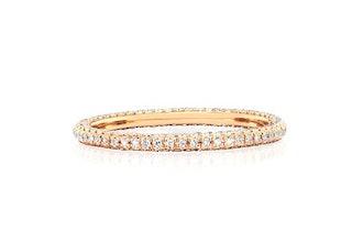 3-Sided Diamond Eternity Band Ring