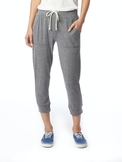 Cropped Eco-Jersey Jogger Pants
