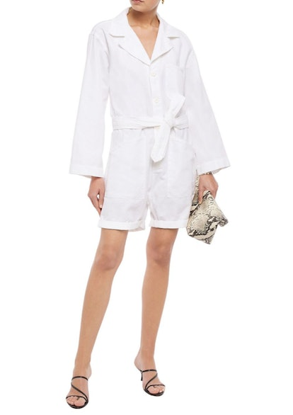 Ariana Linen-Blend Twill Playsuit