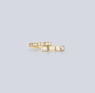 Modern Deco Diamond Ring
