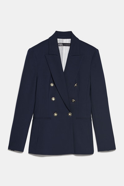 Zara Tailored Double Breasted Blazer