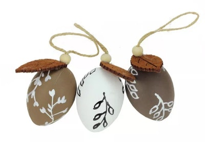 Northlight 3ct Painted Design Spring Easter Egg Ornaments