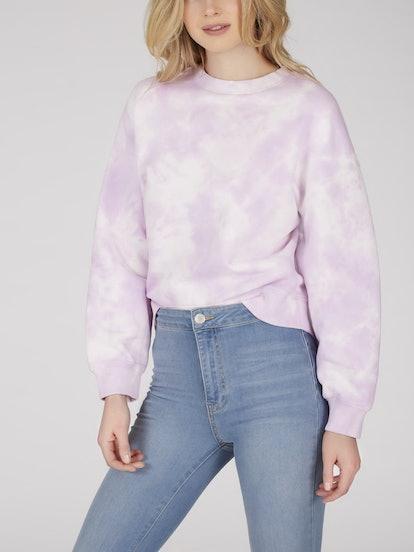 Cotton French Terry Tie Dye Sweatshirt