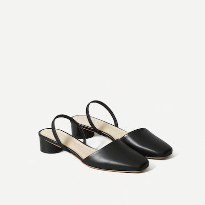 The Tapered Square Toe Slingback
