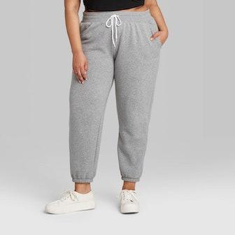 High-Rise Vintage Jogger Sweatpants
