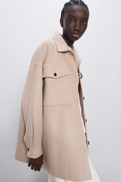 Buttoned Soft Touch Jacket