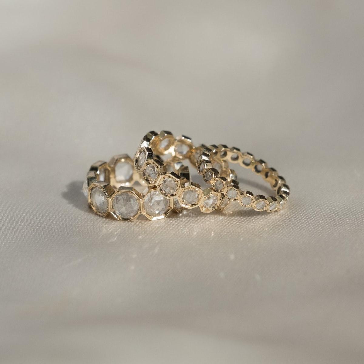 3MM Crown Bezel Diamond Eternity Ring