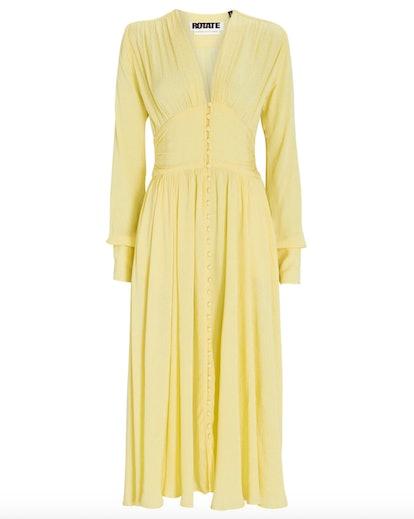 Tracy Button-Front Midi Dress