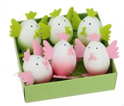 Northlight 6ct Felt Easter Egg Chicken Spring Figure Decorations