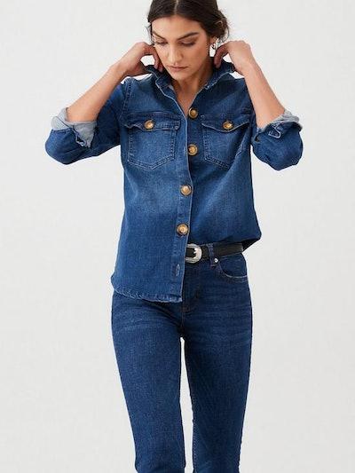 V by Very Denim Shirt - Blue