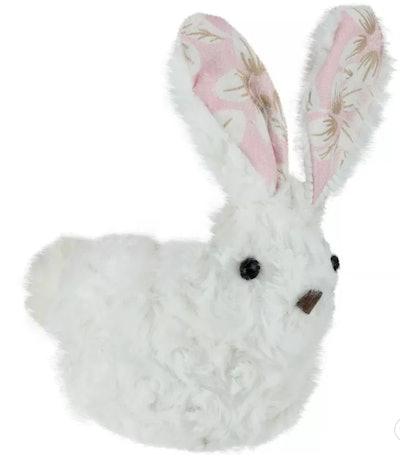 "Northlight 6"" Plush Floral Easter Rabbit Spring Figure"