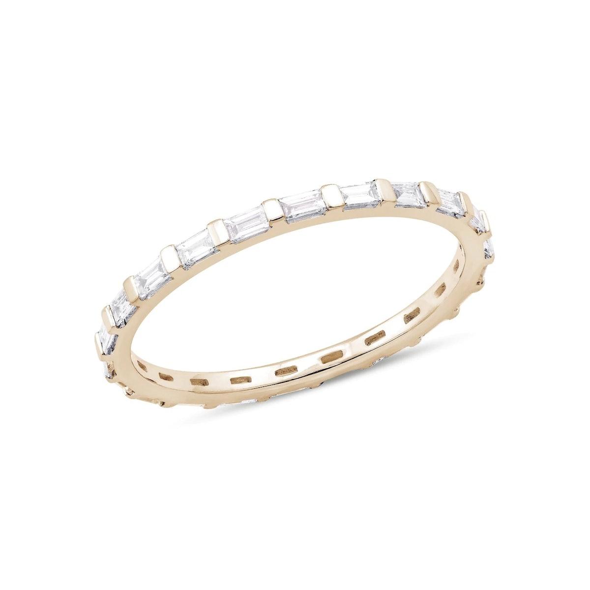 Sadie Pearl Baguette Eternity Ring